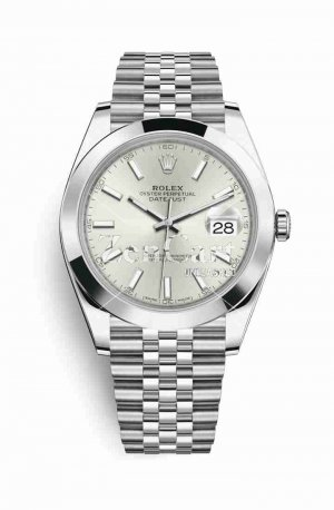 Rolex Datejust 41 Oystersteel 126300 Silver Dial Watch Replica