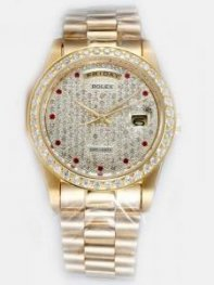 Rolex Day Date Yellow Golden Dial With Red Dot H