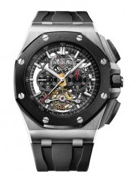 Audemars Piguet Royal Oak Offshore Tourbillon Chronograph Open-Worked Titanium 26348IO.OO.A002CA.01 Replica Watch