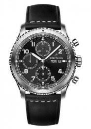 Breitling Navitimer 8 Chronograph Black Dial Leather Strap A13314101B1X1 Replica Watch
