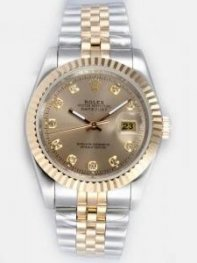 Rolex DATEJUST Grey Dial With CZ Diamond Hour M