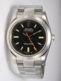 Rolex Milgauss Black Dail Orange Second Hand Men