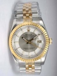Rolex DATEJUST Grey Dial With Bar Hour Markers W