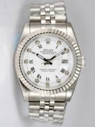 Rolex DATEJUST Oyster White Dial With Roman Hou