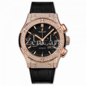 Hublot Chronograph King Gold Pavé 45mm Classic Fusion 521.OX.1181.LR.1704 Watches Replica