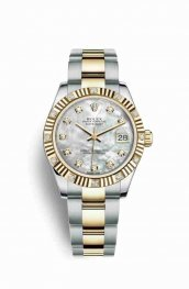 Rolex Datejust 31 Yellow 178313 White mother-of-pearl diamonds Watch Replica