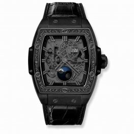 Hublot Spirit Of Big Bang Moonphase All Black DIamonds 647.CI.1110.LR.1200 42mm Replica