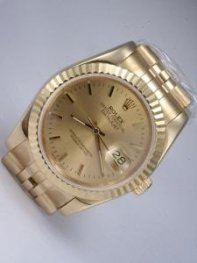 Rolex DATEJUST Golden Dial With Bar Hour Markers