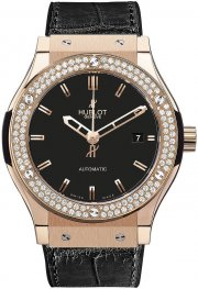 Hublot Classic Fusion King Gold Diamonds 565.OX.1180.LR.1104 Watch Replica