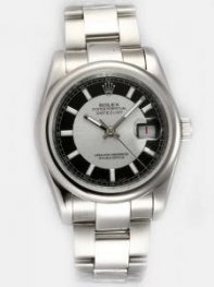 Rolex DATEJUST Silver Dial With Black Hour Marke
