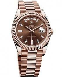 Rolex Oyster Perpetual Day Date 40 228235 Chocolate Dial