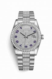 Rolex Day-Date 36 Platinum 118346 Diamond-paved Dial Watch Replica