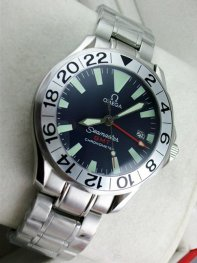 Omega Seamaster Stainless Steel Black Dial Watches D0711