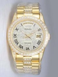 Rolex Day Date Iced White Dial With Roman Hour M