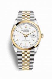 Rolex Datejust 36 Yellow 126203 White Dial Watch Replica