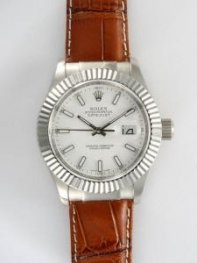 Rolex DATEJUST Oyster White Dial With Bar Hour M