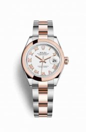 Rolex Datejust 28 Everose gold 279161 White Dial Watch Replica
