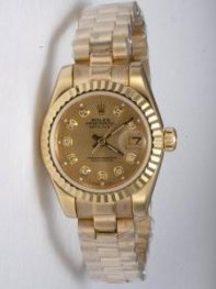 Rolex DATEJUST Brown Dial With CZ Diamond Hour M
