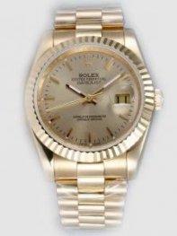 Rolex DATEJUST Beige Dial With Bar Hour Markers