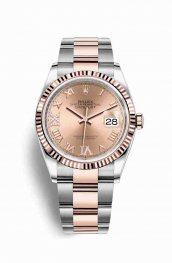 Rolex Datejust 36 Everose gold 126231 Rose diamonds Watch Replica