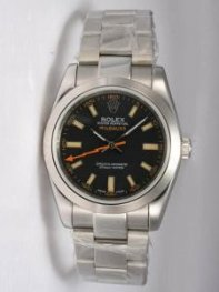 Rolex Milgauss Black Dial Shaped Orange Hour Mar