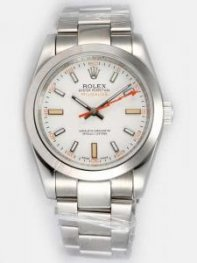 Rolex Milgauss White Dail Red Second Hand Men's