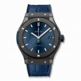 Hublot Classic Fusion Ceramic Blue 45mm 511.CM.7170.LR Replica