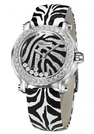 Chopard Happy Sport Zebra Special Edition In Steel With White Gold Diamond Bezel 278475-2003 Replica Watch