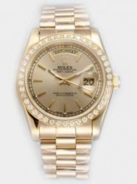 Rolex Day Date Yellow Golden Dial With Bar Hour