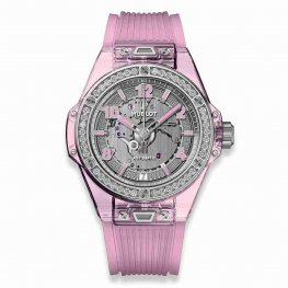 Hublot Big Bang One Click Pink Sapphire Diamonds 465.JP.4802.RT.1204 39mm Replica Watch