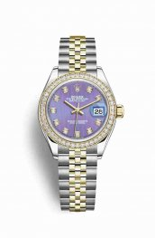 Rolex Datejust 28 Yellow 279383RBR Lavender diamonds Watch Replica