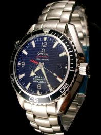 Omega Seamaster Professional Black Bezel Blue Dial Watch