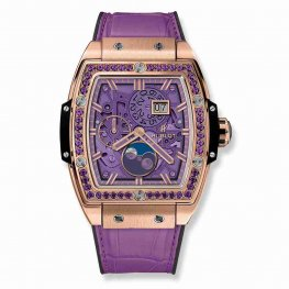 Hublot Spirit Of Big Bang Moonphase King Gold Purple 647.OX.4781.LR.1205 42mm Replica