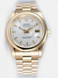 Rolex DATEJUST White Dial With Bar Hour Markers
