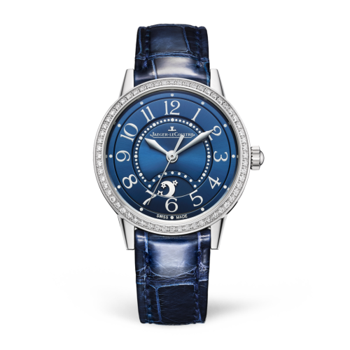 Jaeger-LeCoultre 3468480 Rendez-Vous Night & Day Small Stainless Steel/Diamond/Blue/Alligator Replica