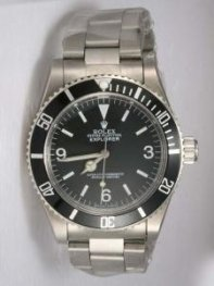 Rolex Explorer Grey Dial With Bar Hour Markers R
