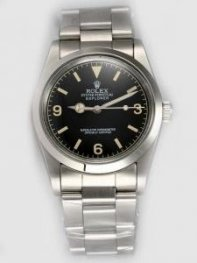 Rolex Explorer French Black Dial With Bar And Ar