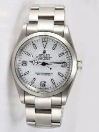 Rolex Explorer White Dial With Bar Hour Markers