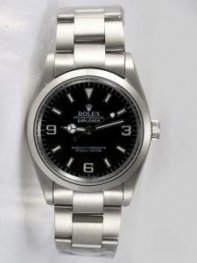 Rolex Explorer Black Dial With Bar Hour Markers