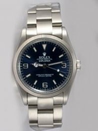 Rolex Explorer French Mandarin Blue Dial With Ba